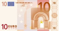 Front of 10 Euro Banknote