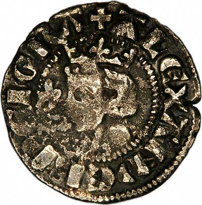 Obverse of 1280 Scottish Silver Penny