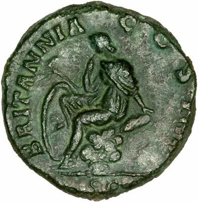 Britannia on Reverse of an Antoninus Pius As