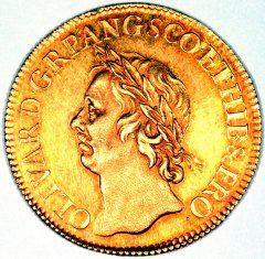 Oliver Cromwell on a Gold Broad