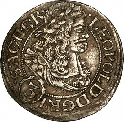 Obverse of Holy Roman Empire 3 Kreuzers