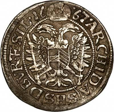Reverse of Holy Roman Empire 3 Kreuzers