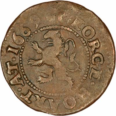 Obverse of 1669 Farthing Token