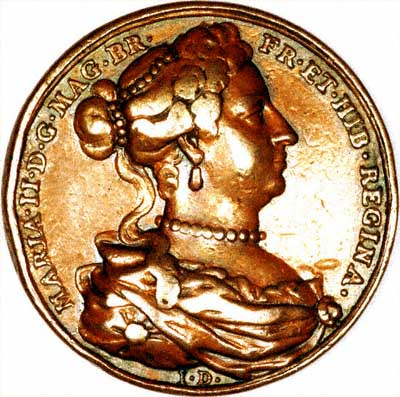 Obverse of Queen Mary II Medallion