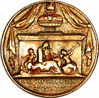 Reverse of Queen Mary II Medallion