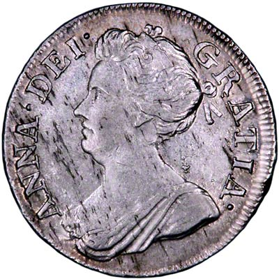 Obverse of 1710 Maundy Fourpence