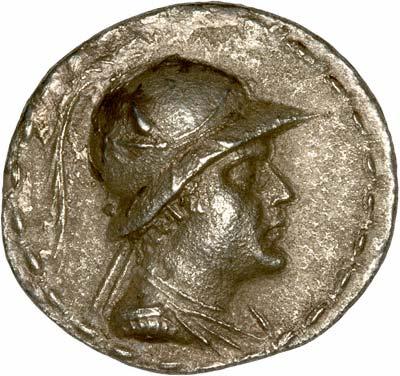 Obverse of Eucratides Tetradrachm
