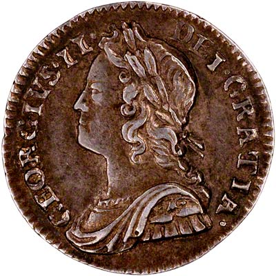 Obverse of 1743 Maundy Twopence