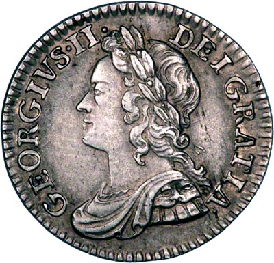 Obverse of 1746 Maundy Fourpence