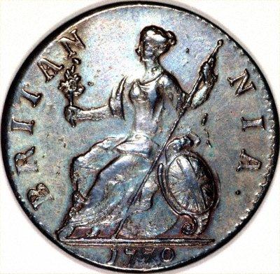 1770 George III Halfpenny Reverse