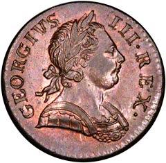 Halfpenny of George III