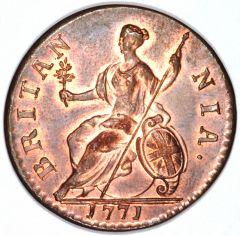 1771 George III Halfpenny Reverse