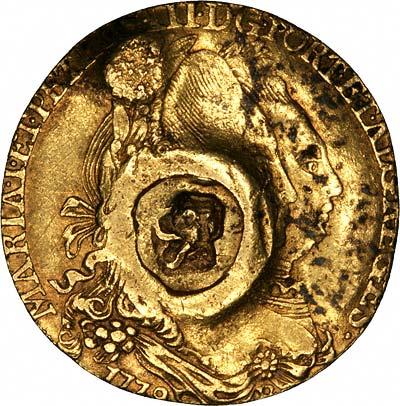 Obverse of 1778 Grenada 66 Shillings