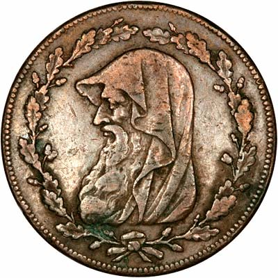 Obverse of 1787 Penny Token