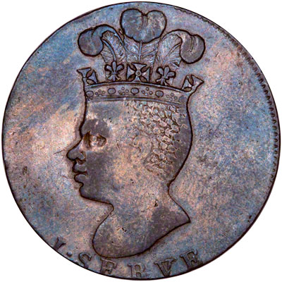 Obverse of 1788 Barbados One Penny