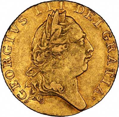 Obverse of George III Guinea - Fifth Head