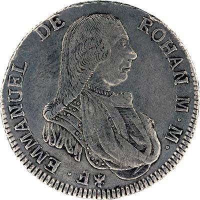 Obverse of 1790 Maltese Thirty Tari