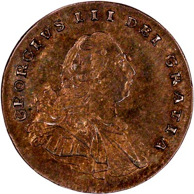 Obverse of 1792 Maundy Twopence