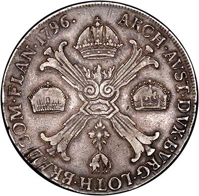 Reverse of 1796 Austrian Thaler
