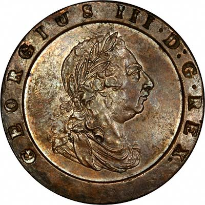 Obverse of 1797 Cartwheel Twopence