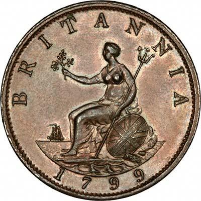 1799 George III Halfpenny Reverse