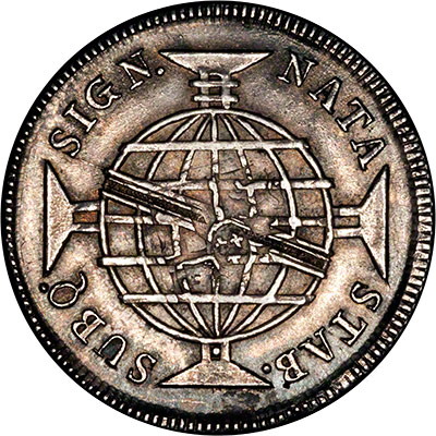 Reverse of 1811 Brazil 960 Reis