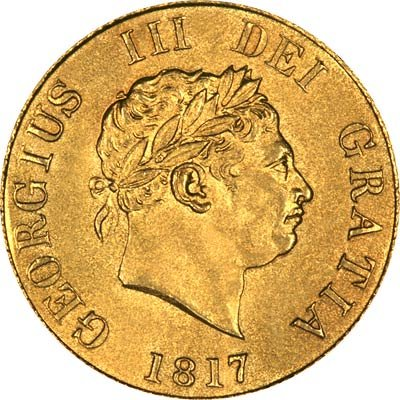 Reverse of 1817 Half Sovereign