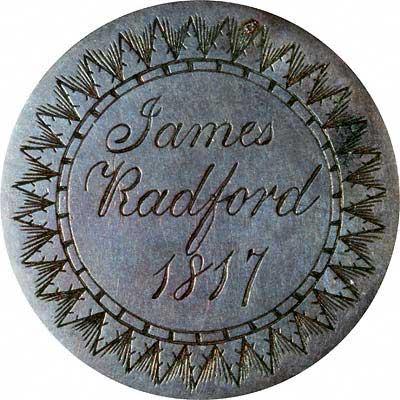 James Radford on 1817 Token Coin