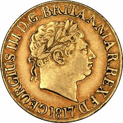 1817 George III Sovereign Obverse