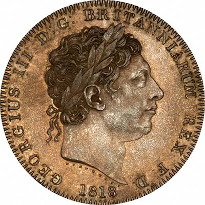 Obverse of 1818 Crown