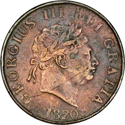 Contemporary Counterfeit of 1820 Halfcrown