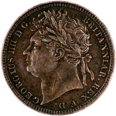 Obverse of 1822 Maundy Penny