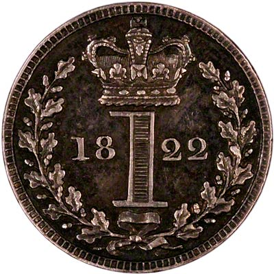 Reverse of 1822 Maundy Penny