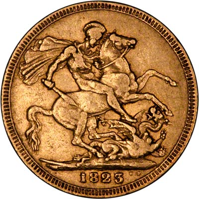 Reverse of 1823  Sovereign
