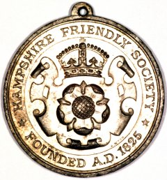 Obverse of Hampshire Friendly Society Medallion