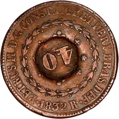 Obverse of Brazil 10,000 Reis
