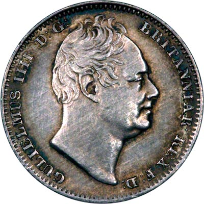 Obverse of 1836 Maundy Fourpence