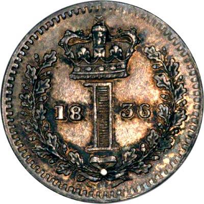 Reverse of 1836 Maundy Penny