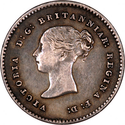 Obverse of 1838 Maundy Twopence