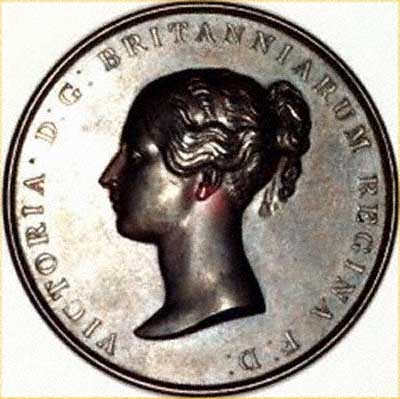 Obverse of Victoria Coronation Medallion 1838