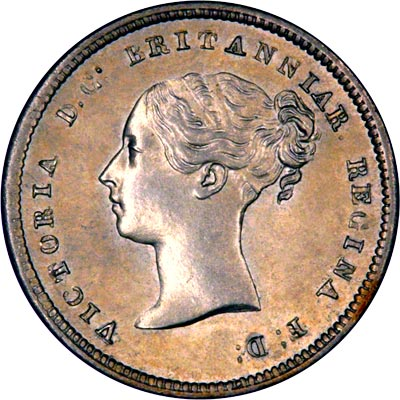 Obverse of 1840 Maundy Fourpence