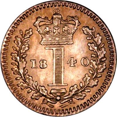 Reverse of 1840 Maundy Penny