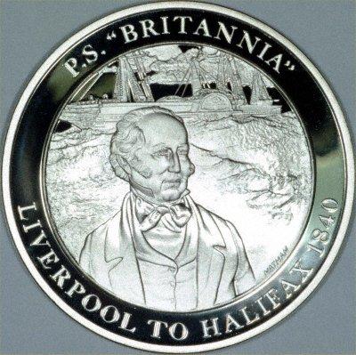 Paddle Steamer Britannia on a Silver Medallion
