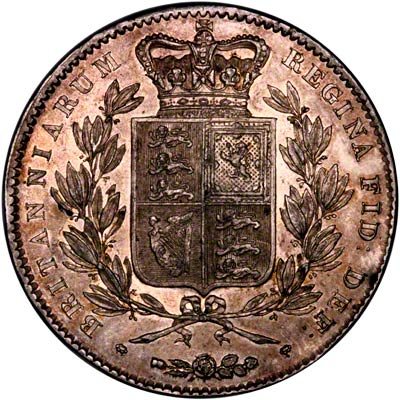Reverse of 1844 Crown with Toning