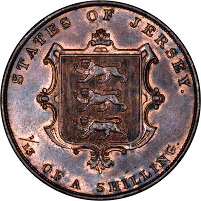 Reverse of 1844 Thirteenth of a Shilling