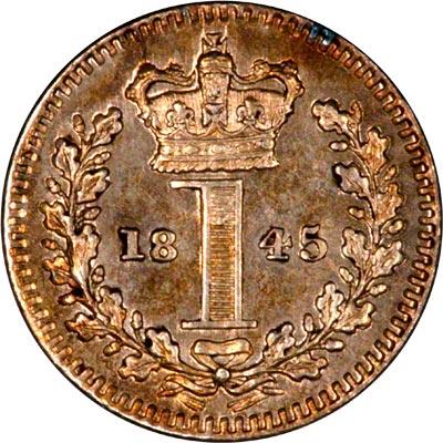 Reverse of 1845 Maundy Penny