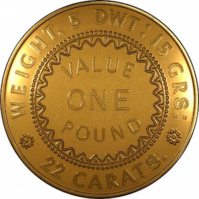 Reverse of 1852 Adelaide Gold Plated Pound Replica Coin