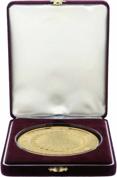 1852 Adelaide Gold Plated Pound Replica Coin in Presentation Box