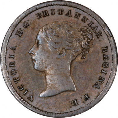 Obverse of 1854 Maundy Fourpence