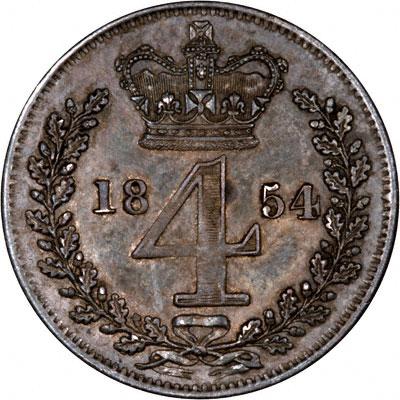 Reverse of 1854 Maundy Threepence